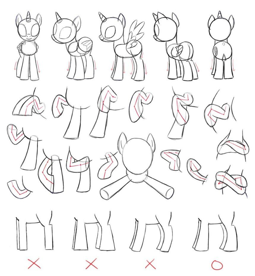 How to draw a pony from a girl Equestria 80