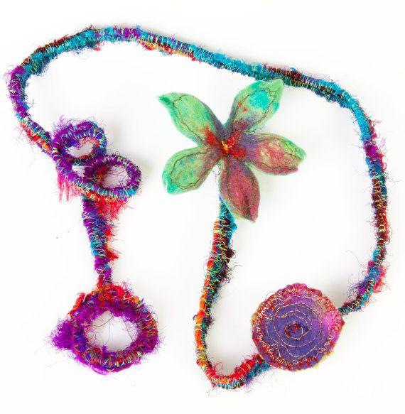 felt necklace  felt headband felt  flower by ArianeMariane on Etsy, €65.00