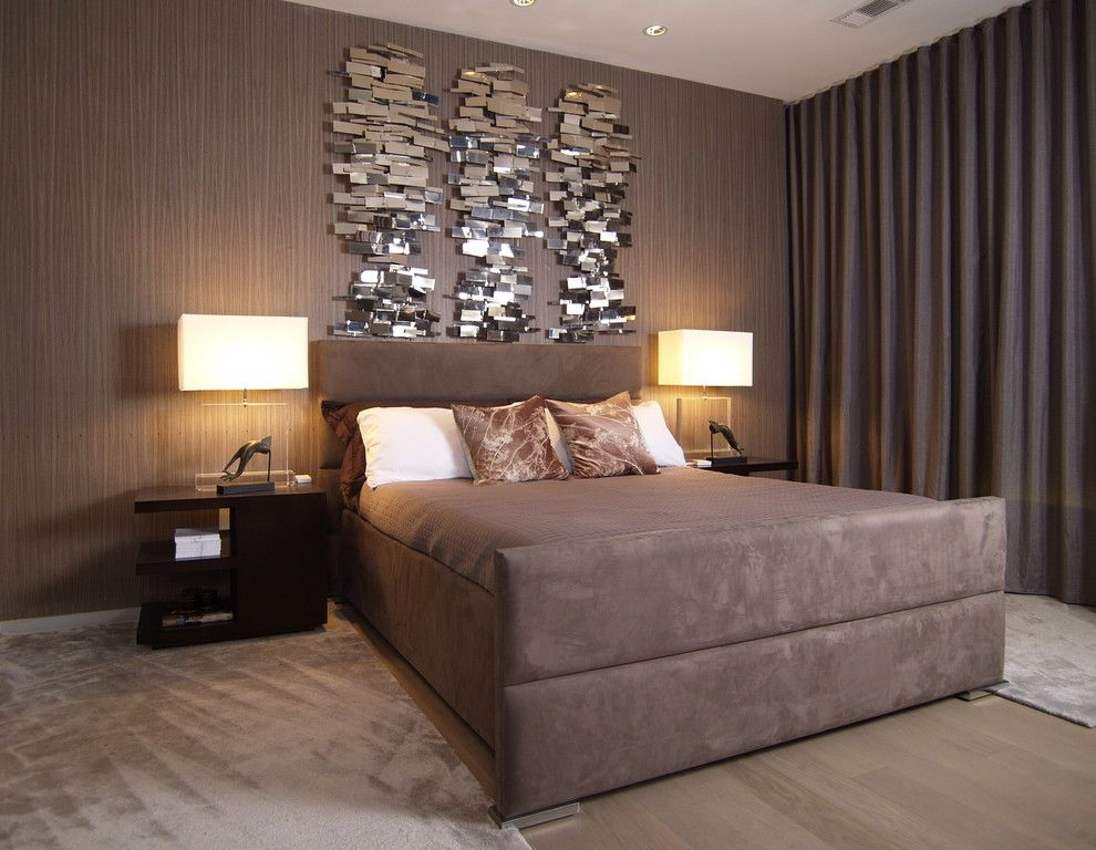 Stupefying Contemporary Metal Wall Sculptures Ideas In Bedroom Contemporary  Design Ideas With Area Rug Bedside Table