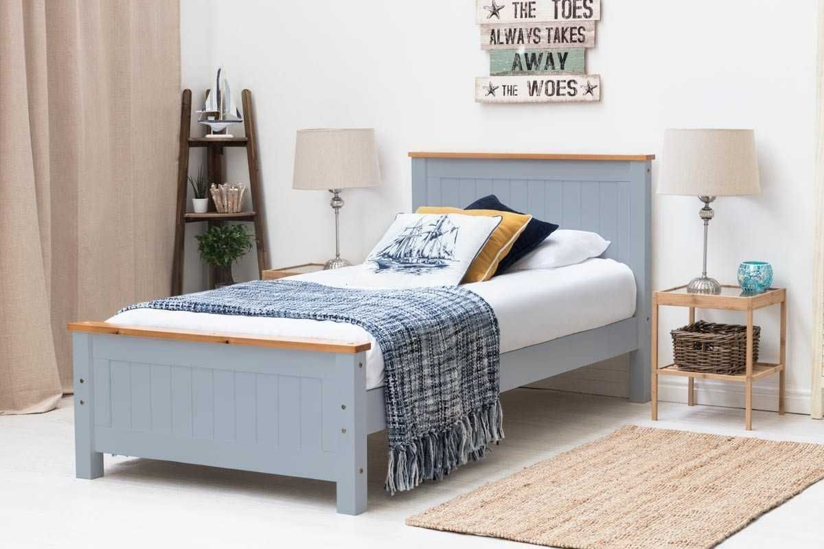 Best Rostherne Grey Wooden Bed Frame Single Double King 400 x 300