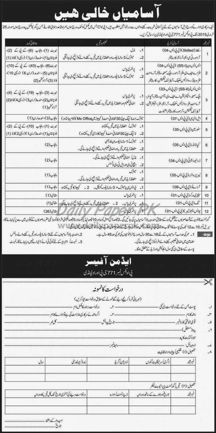 New Govt Job in Rawalpindi Pakistan | All Board | New job