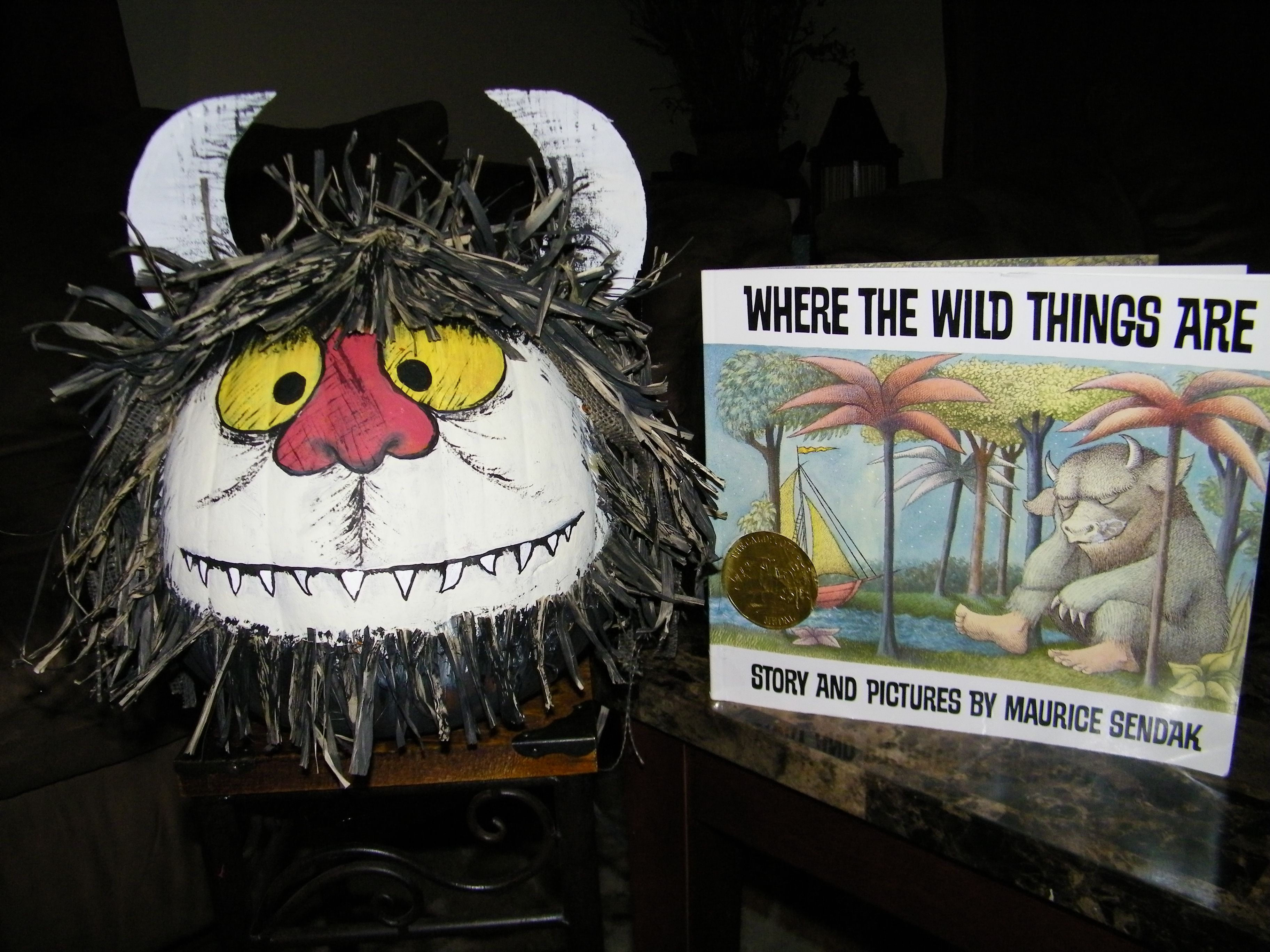 Where The Wild Things Are!  My daughter and I made this for a pumpkin character contest for her school. Thought I would share the idea.