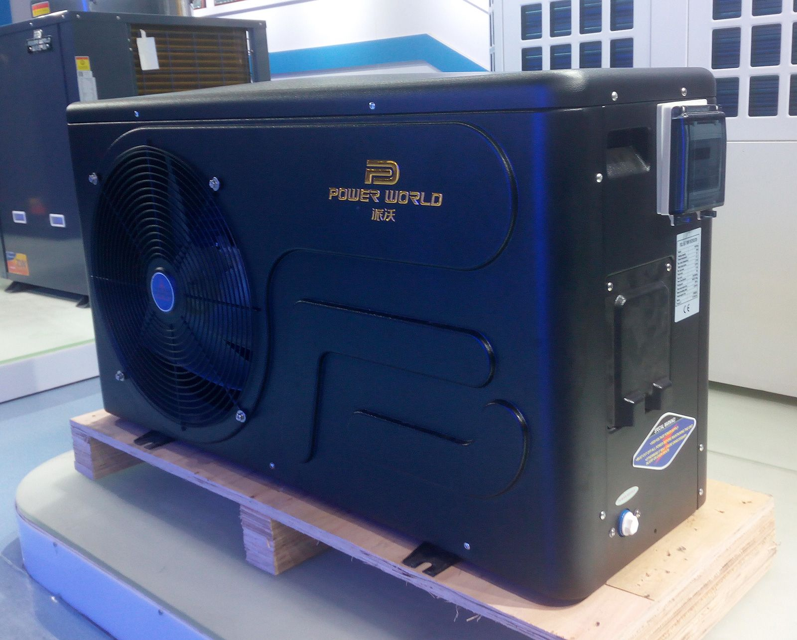 Powerworld airtowater heat pump for swimming pool, with