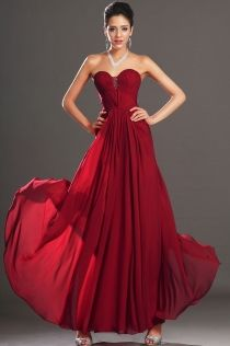 Dark Red Ball Dresses
