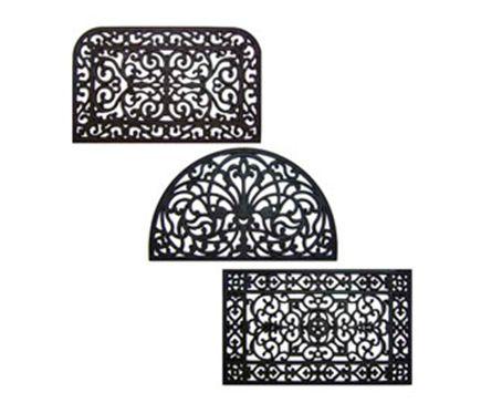 Black rubber doormat 45 x75 cm