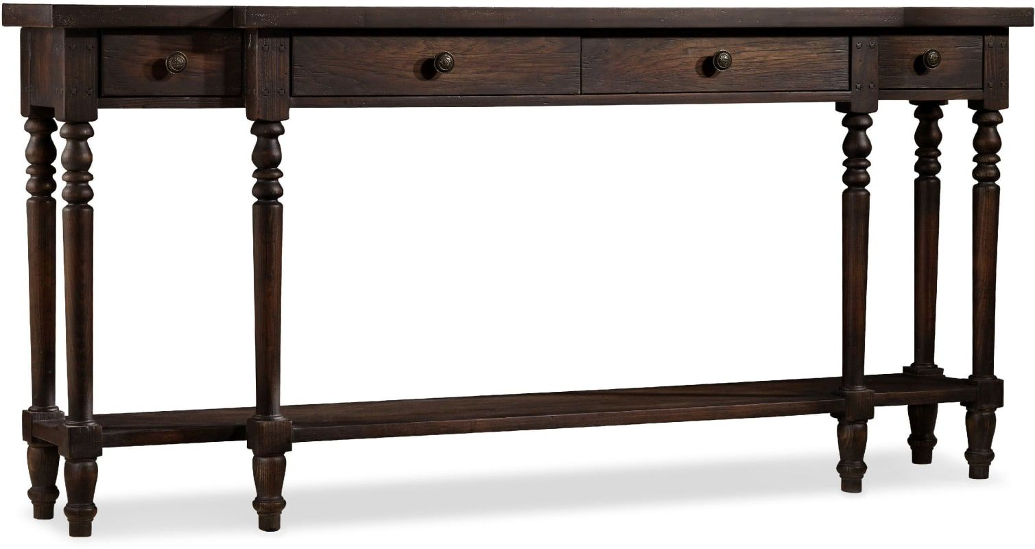 Hooker Furniture 5165 85003 72 Inch Long Hardwood Console Table From