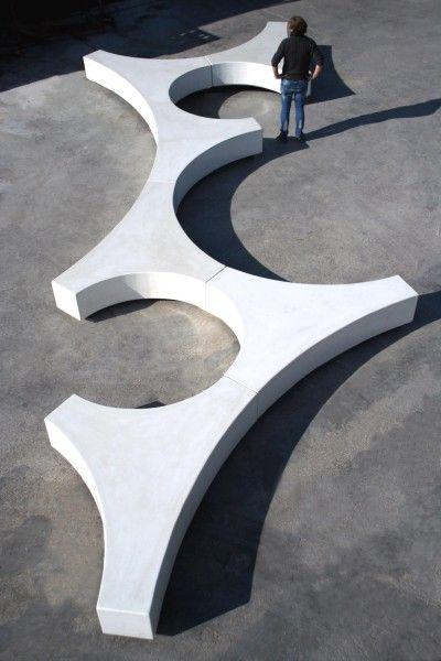 Guyon Banc Beton Folia Design Original Assemblage Banquettes