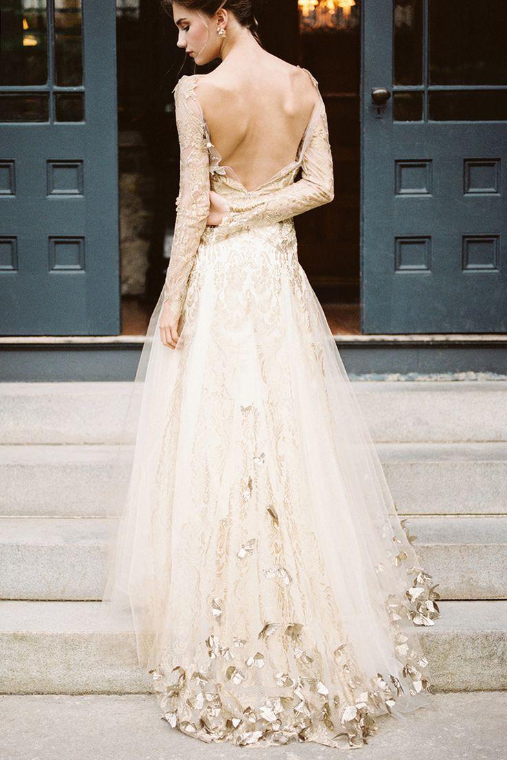 Hochzeitskleid gold  Kleider hochzeit, Braut, Brautmode