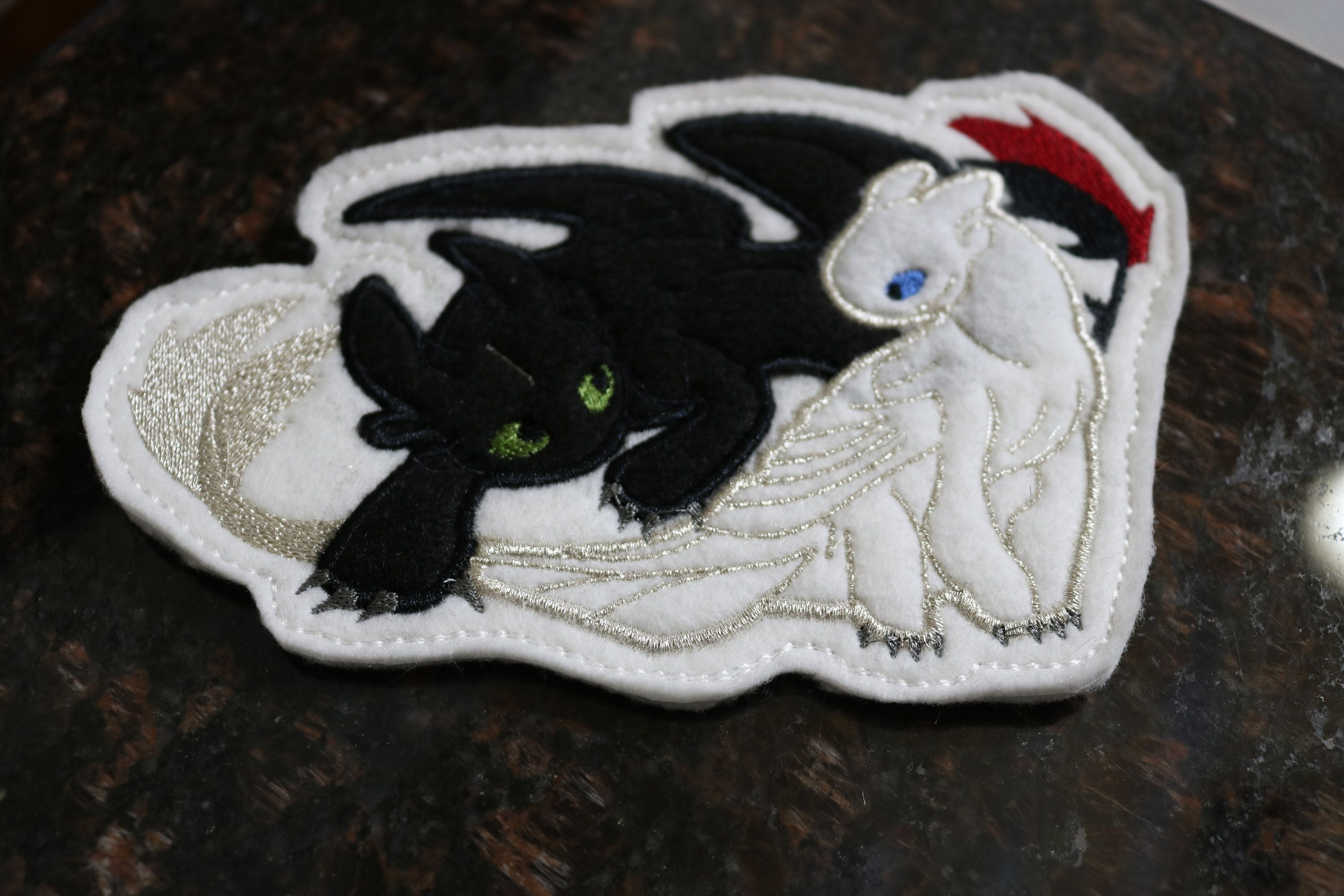 How to Train your Dragon Hiccup Toothless Rider Berk Dark Fury Viking Sew Patch