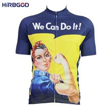 HIRBGOD Hot Women Cycling Jersey Short Sleeve Summer Breathable Bike  Bicycle Clothing We Can Do It 0fd7bd146