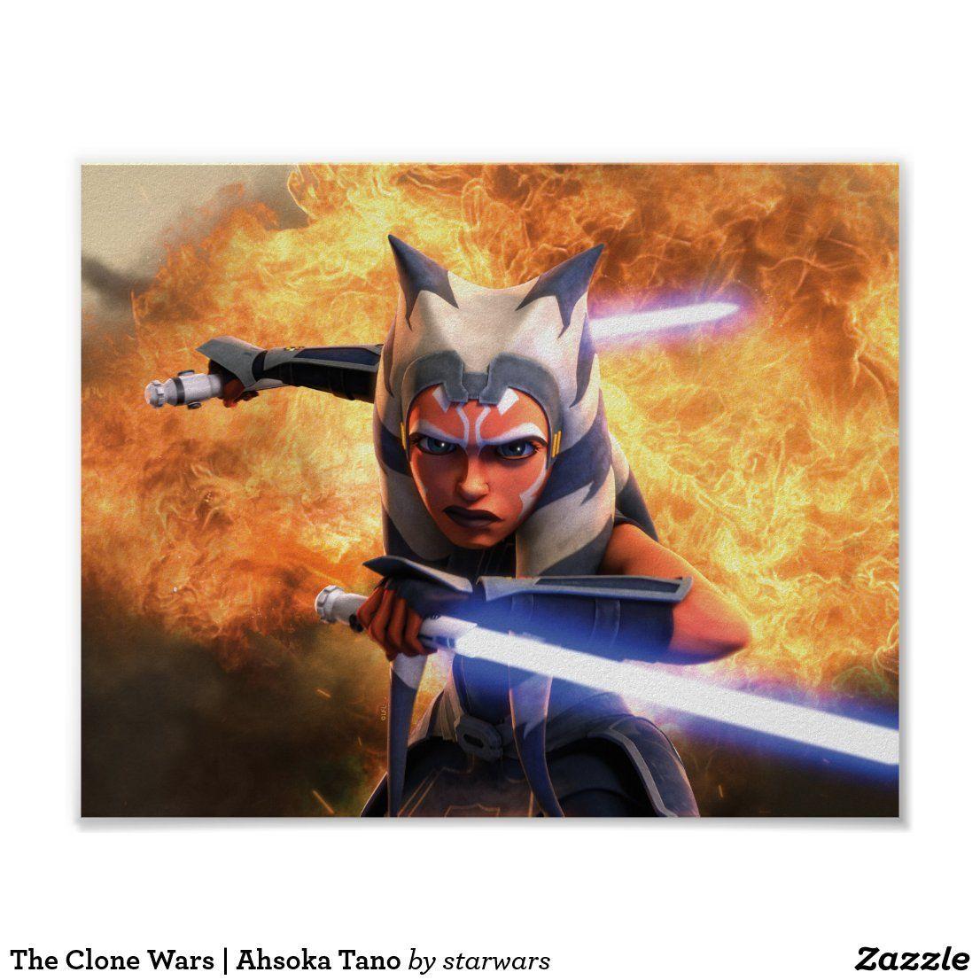 The Clone Wars Ahsoka Tano Poster Zazzle Com Star Wars Art Star Wars Poster Clone Wars Ahsoka