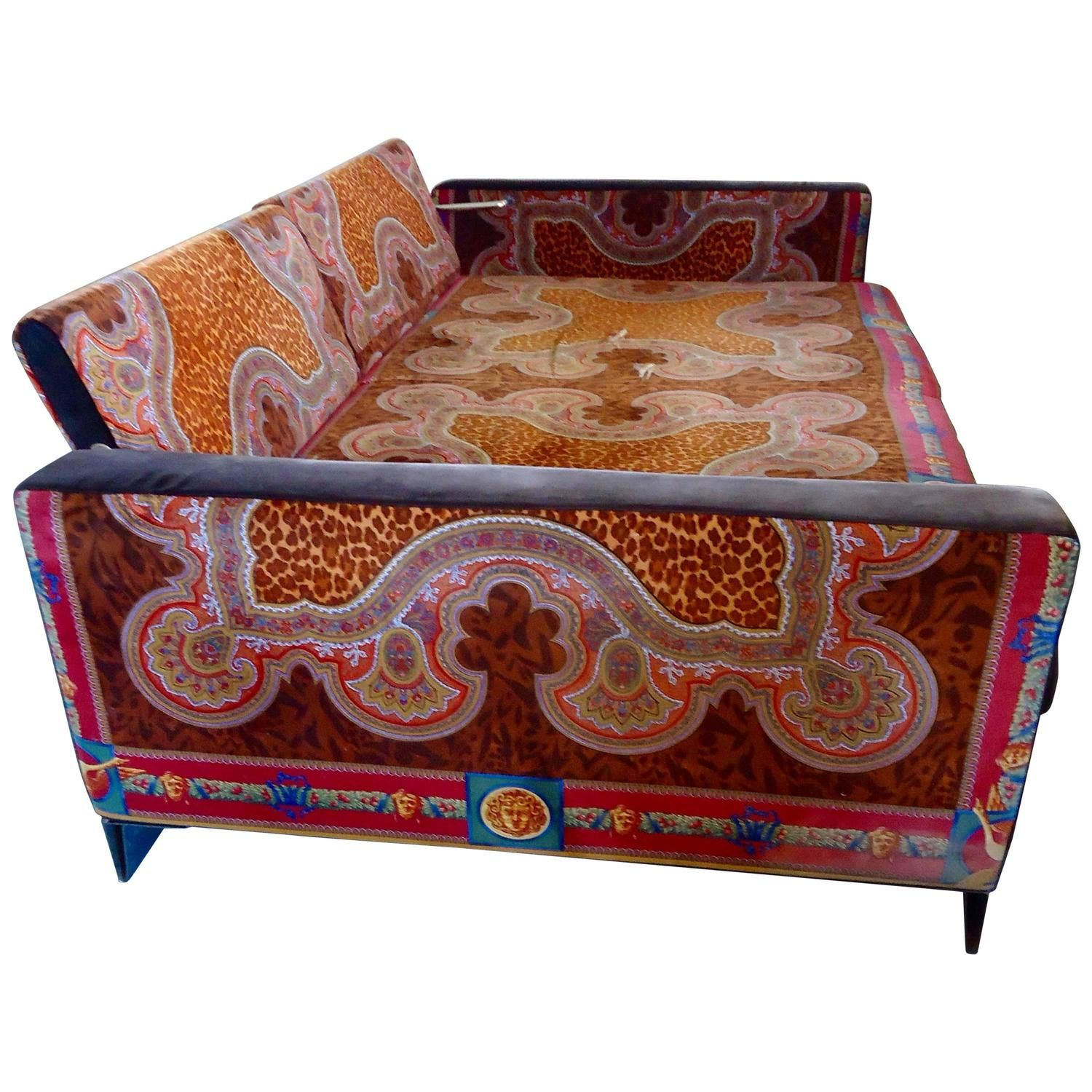 Movie Star Vintage Versace Daybed Couch Interiors Daybed