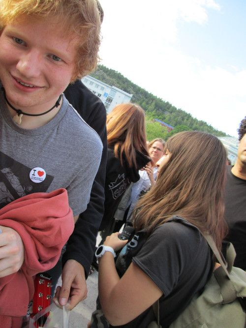 Ed Sheeran he's fluffy and red!! :)