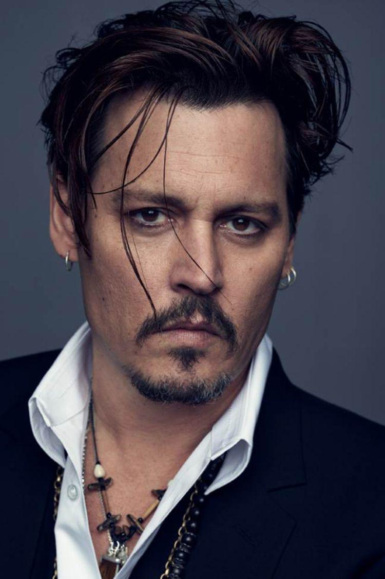 Johnny Depp Frisur 2015 Dior Langes Deckhaar Männerpflege