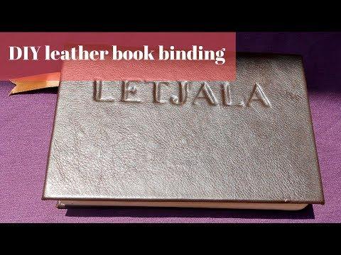 DIY Hardcover Book leather book binding diy