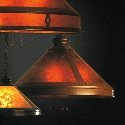 "Mica Lamp Company 102-01 3 Light smith Downlight Large Pendant, Dark Copper - Lighting Universe    20"" wide shade. 35"" tall. $830. Fo kitchen bar downlighting."