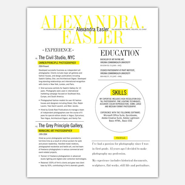 3 Page Resume Service Layouts - 3 page resume