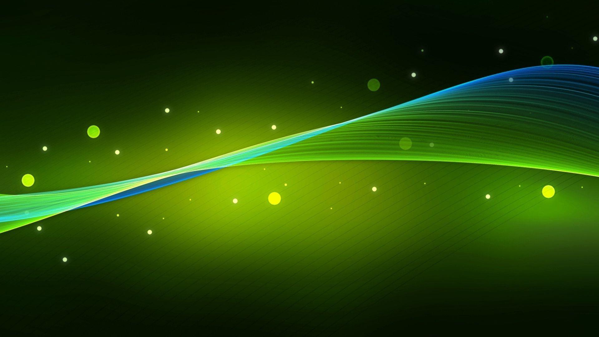 Green Waves Green Wallpaper Green Screen Backgrounds Hd Wallpaper