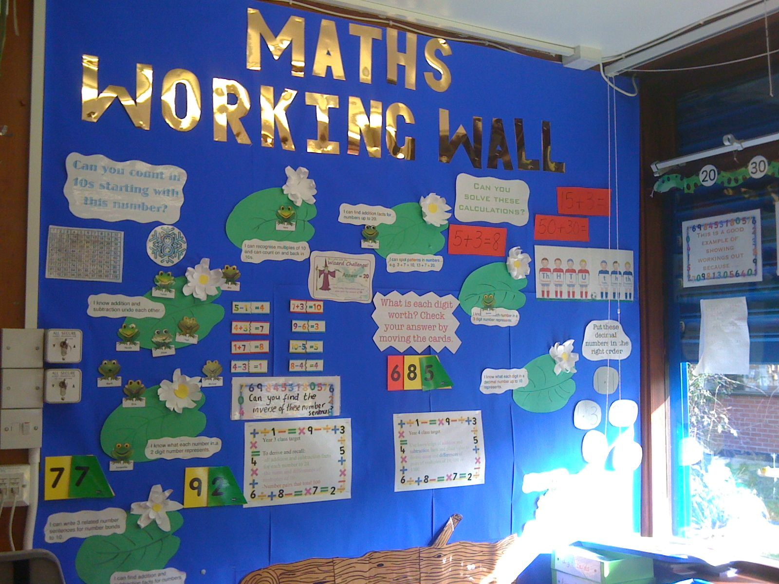 Classroom Ideas Year 3 ~ Maths working wall displays pinterest display