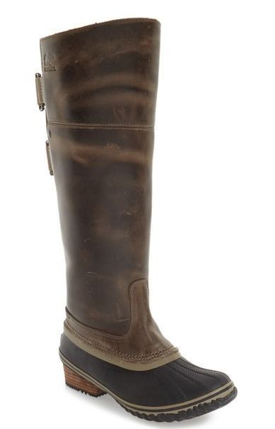edc215f9551 Nib Sorel Women S Slimpack Riding Tall Ii Waterproof Leather Boots In Dark  Fog