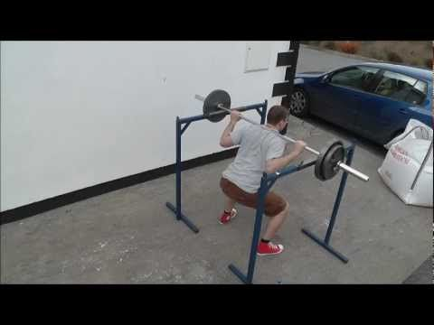 Homemade squat rack and dip station home street workout for Diy squat stands