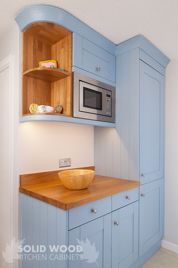 painted oak shaker kitchen in farrow ball lulworth blue kitchen rh pinterest com