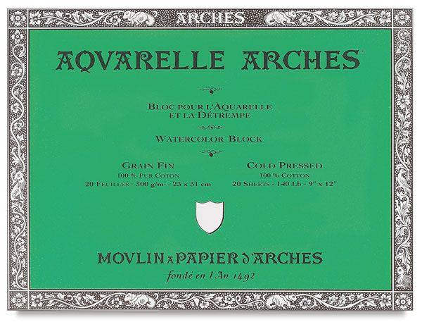 Arches Watercolor Blocks Arches Watercolor Paper Pen Paper