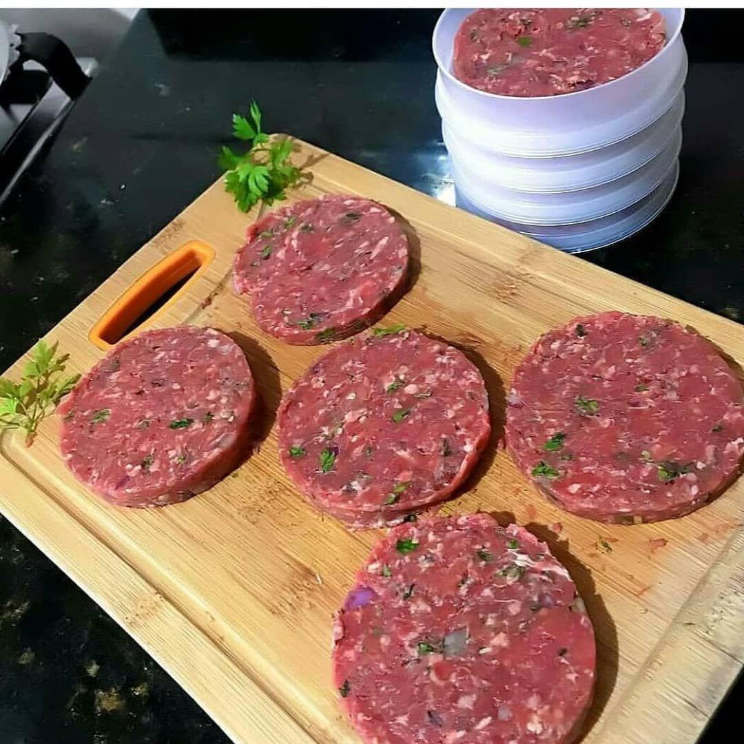 Hamburguer Caseiro Ingredientes 500 Gramas De Carne Moida Usei