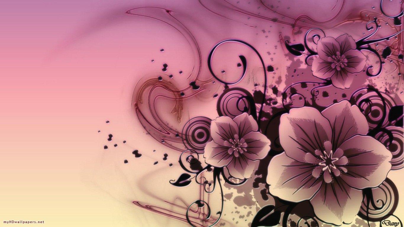 Pink Flowers Abstract Pink Flowers Free Desktop