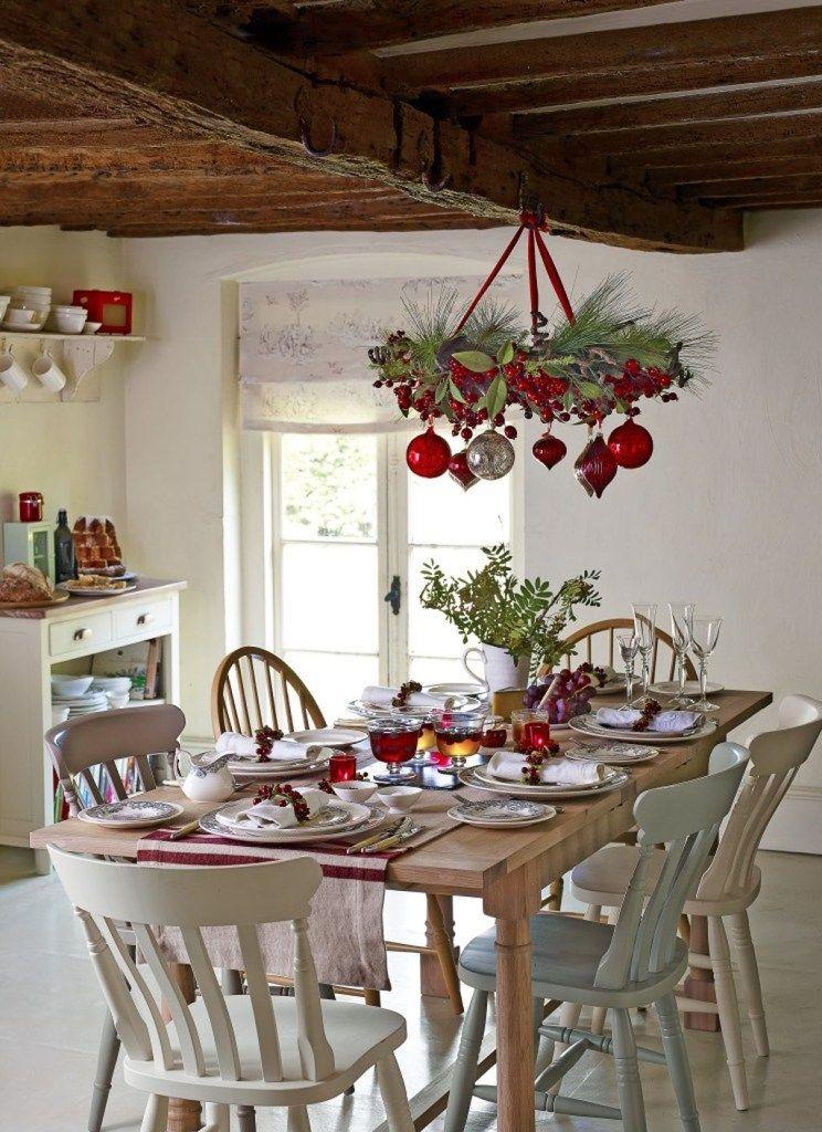 adorable rustic christmas kitchen decoration ideas 28 christmas chandelier christmas dining on kitchen xmas decor id=20699