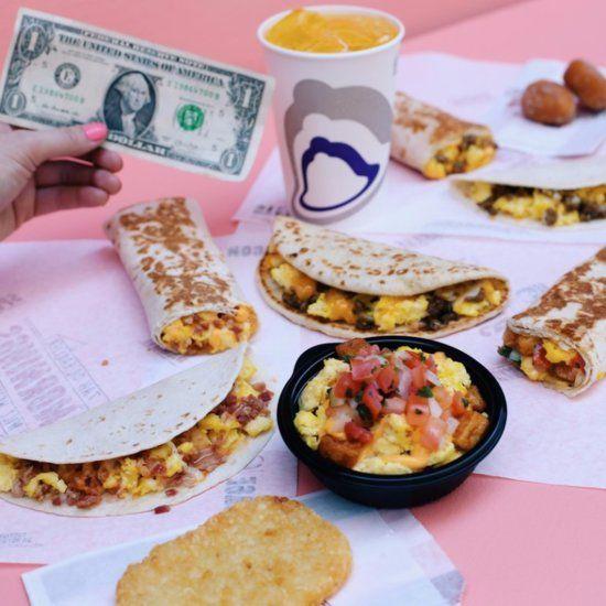 Taco Bell Dollar Breakfast Menu