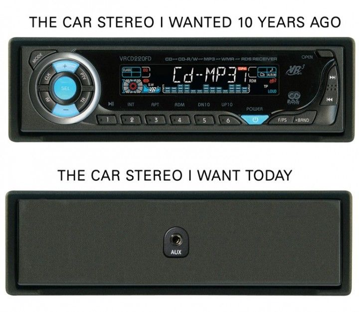The car stereo i want today. Уже не помню когда последний раз покупал или слушал CD-диски