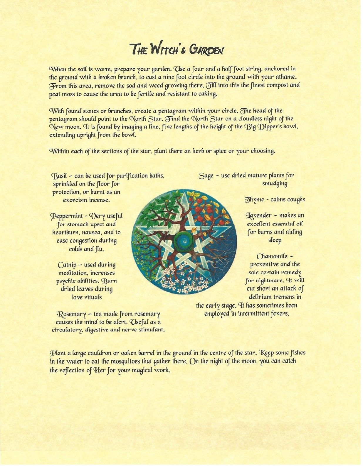 Book Of Shadows Spell Pages Planting A Witchs Garden Wicca