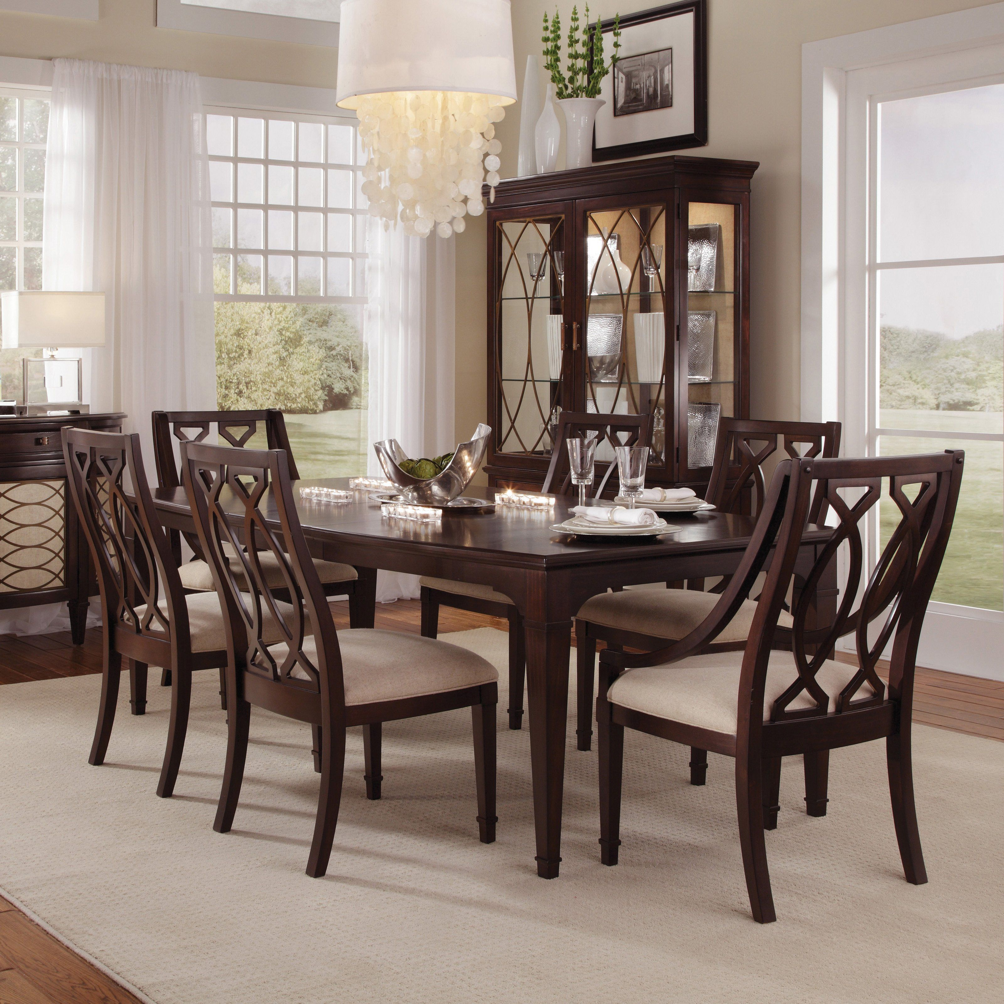 A R T Furniture Intrigue 7 Piece Rectangle Dining Set With Wood