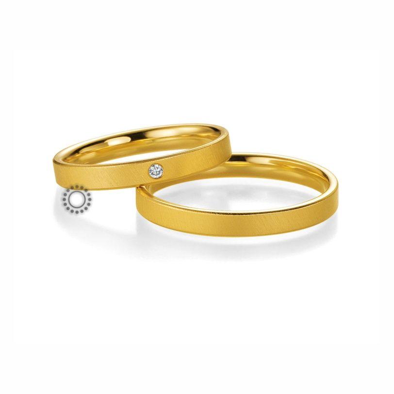 fd9e771c47 Βέρες γάμου BENZ 001   002 - Επίπεδες ανατομικές χρυσές βέρες Benz σε ματ  φινίρισμα