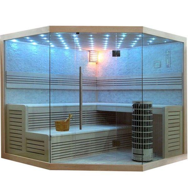 Eo Spa Sauna E1101c Pelholz 180x180 9kw Cilindro