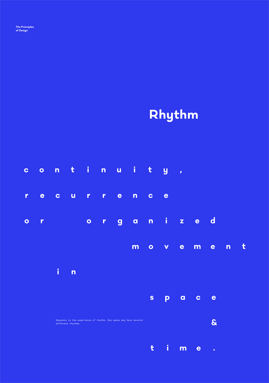 Poster design layout principles - Rhythm The Principles Of Design Poster Serie By Gen Design Studio Poster Minimal