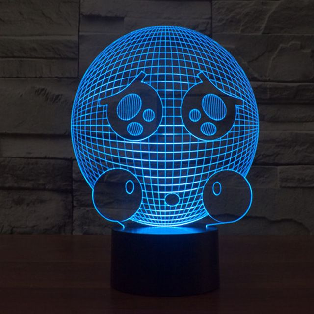 Aliexpress Com Buy Free Shipping 3d Decor Poor Expression Face Light Shape Led Night Light Lamp 3d Illusion Art Night Light Lamp Led Night Light Mood Lamps