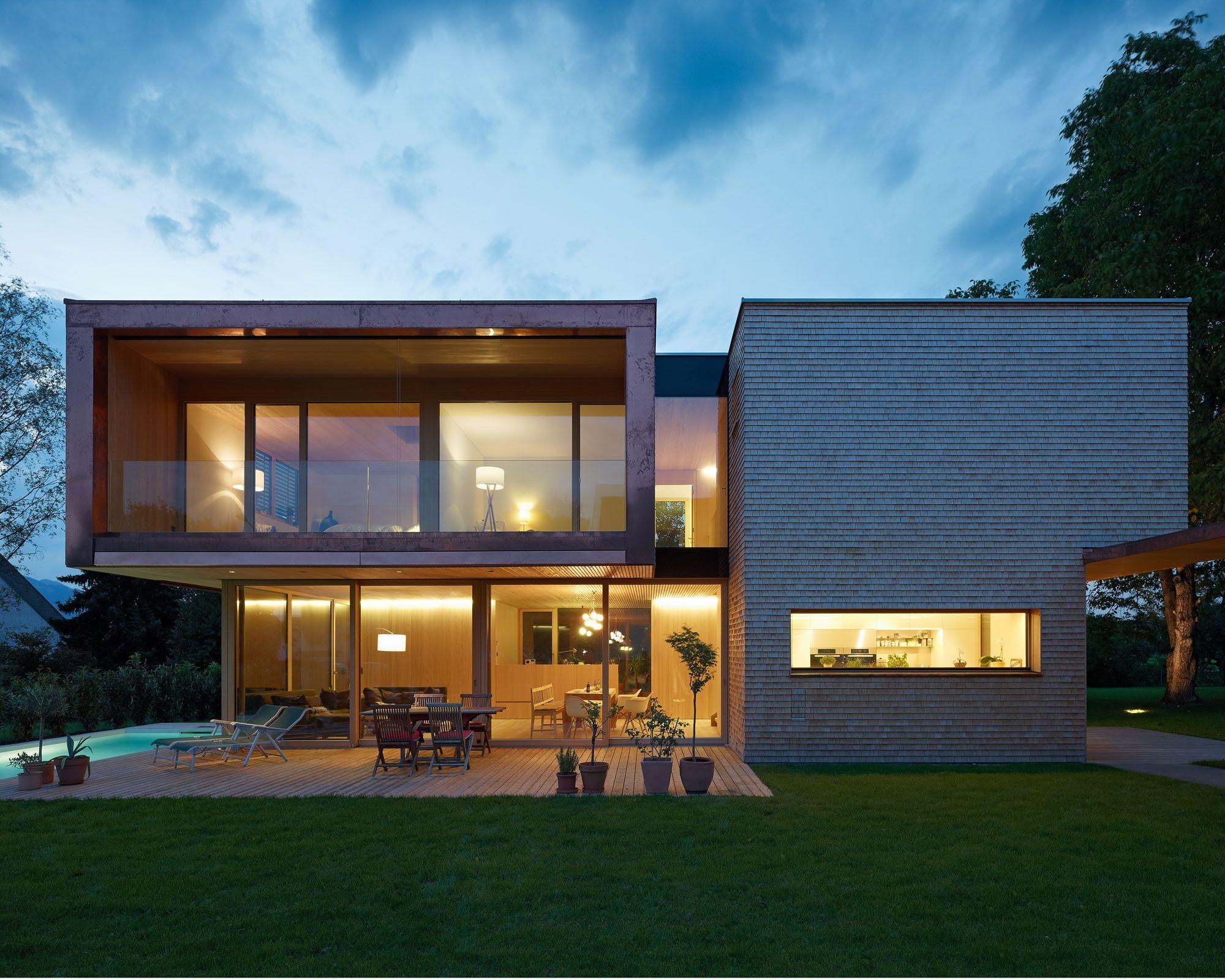 Haus architektur einfamilienhaus holzbau werkstatt wohnen ideen wohn architektur moderne häuser bruno