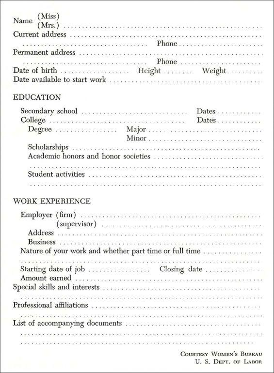 Fill Blank Resume Template Microsoft Word Resume Template