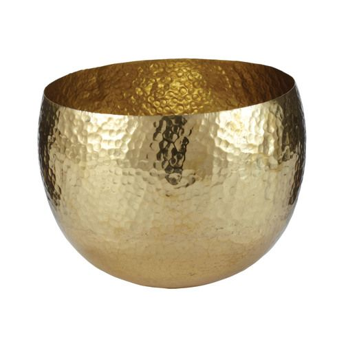 Gold Decorative Bowl Gold Hammered Brass Dish  Small  346022  Products