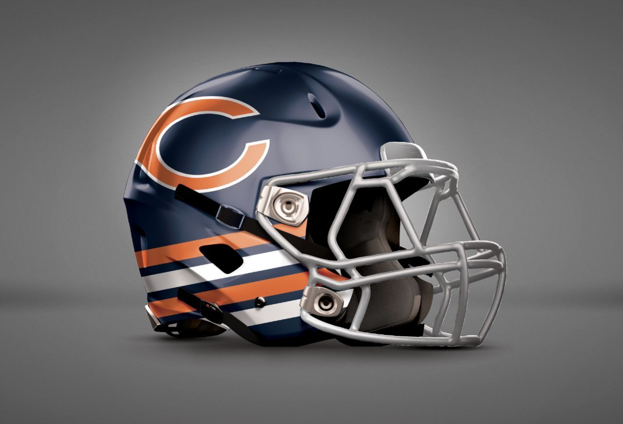 Recently Concept Helmets Made By People Across The Nation Have Gained Lots Of Attention On Social Chicago Bears Helmet Football Helmets Chicago Bears Football