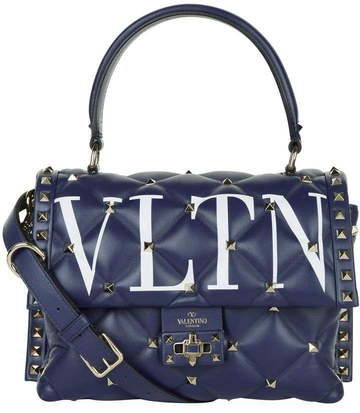 b935aca27 Valentino Leather VLTN Candystud Top Handle Bag Leather Shoulder Bag, Shoulder  Strap, Shoulder Bags