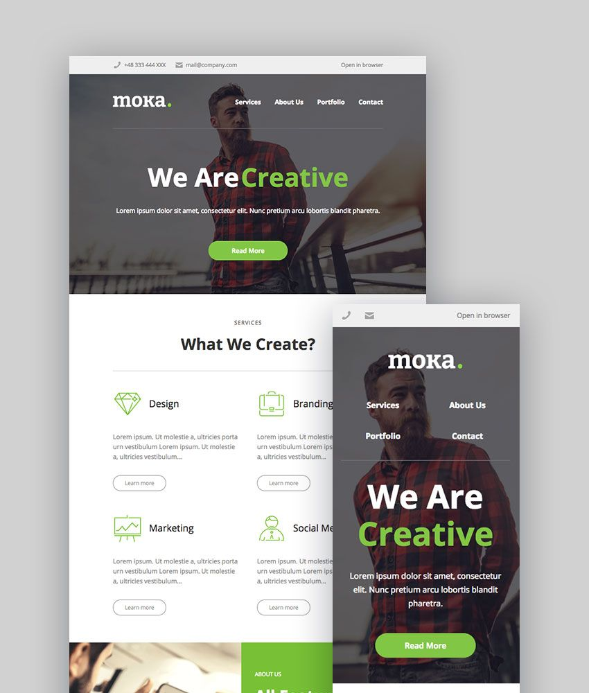 Moka  Creative Email And Newsletter Template  Edms