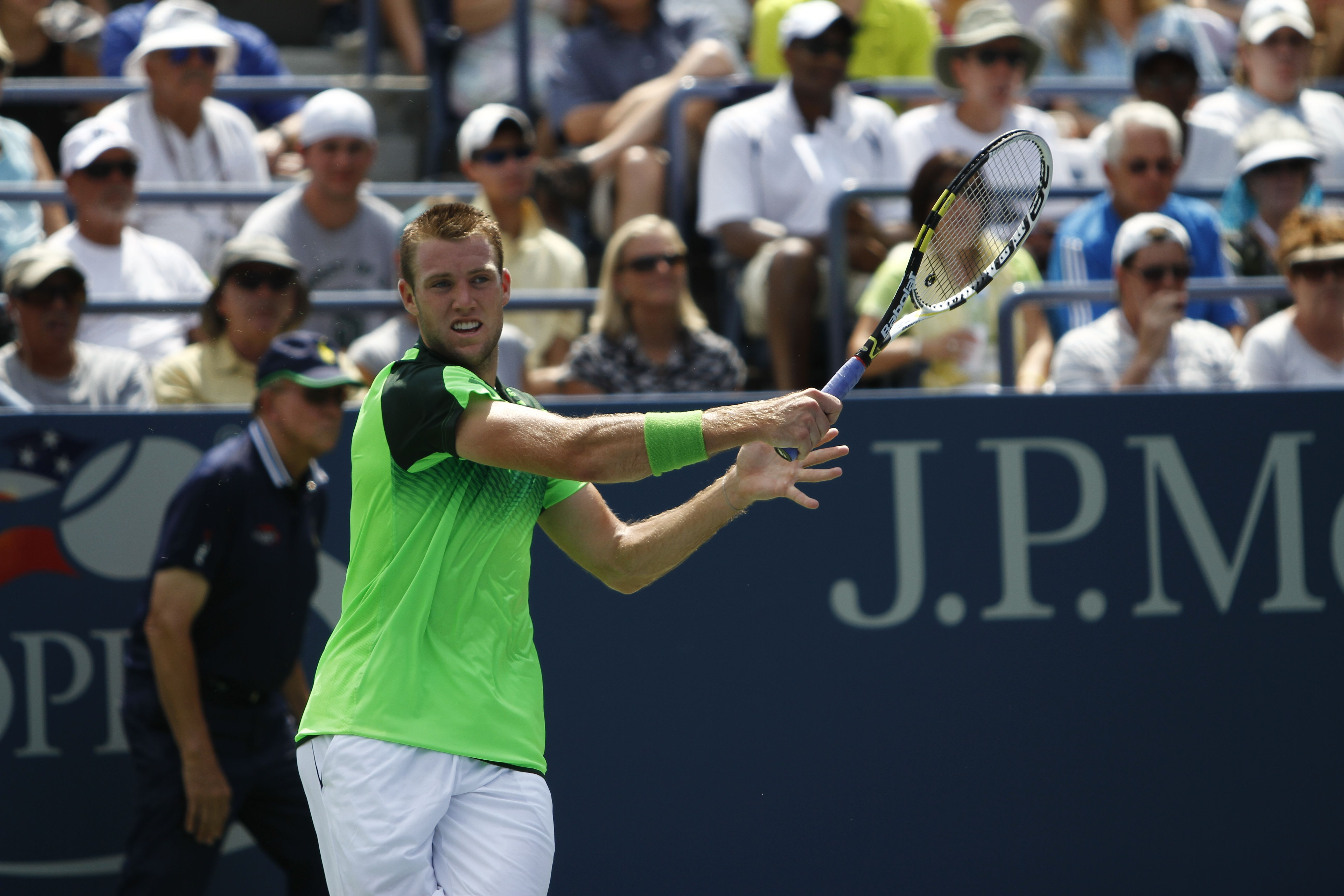 Jack Sock is trying to keep American hopes alive in the Men's Singles draw!