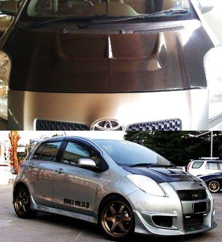 Toyota Yaris Ts Trd Footstep Grand New Avanza C One Carbon Bonnet 1 Style Pinterest