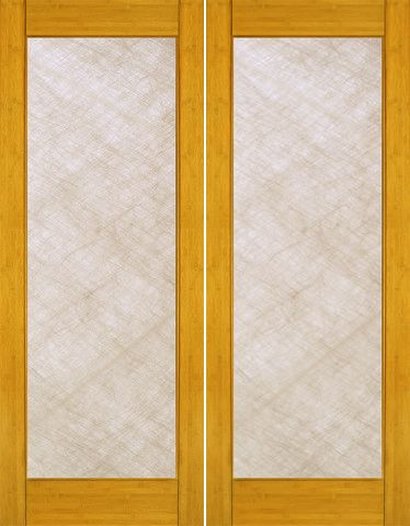820 00prehung Slab Safety Insulated Laminated Bamboo Bamboo Contemporary Modern Full Lite Interior Double Do Doors Interior Double Doors Interior Bifold Doors