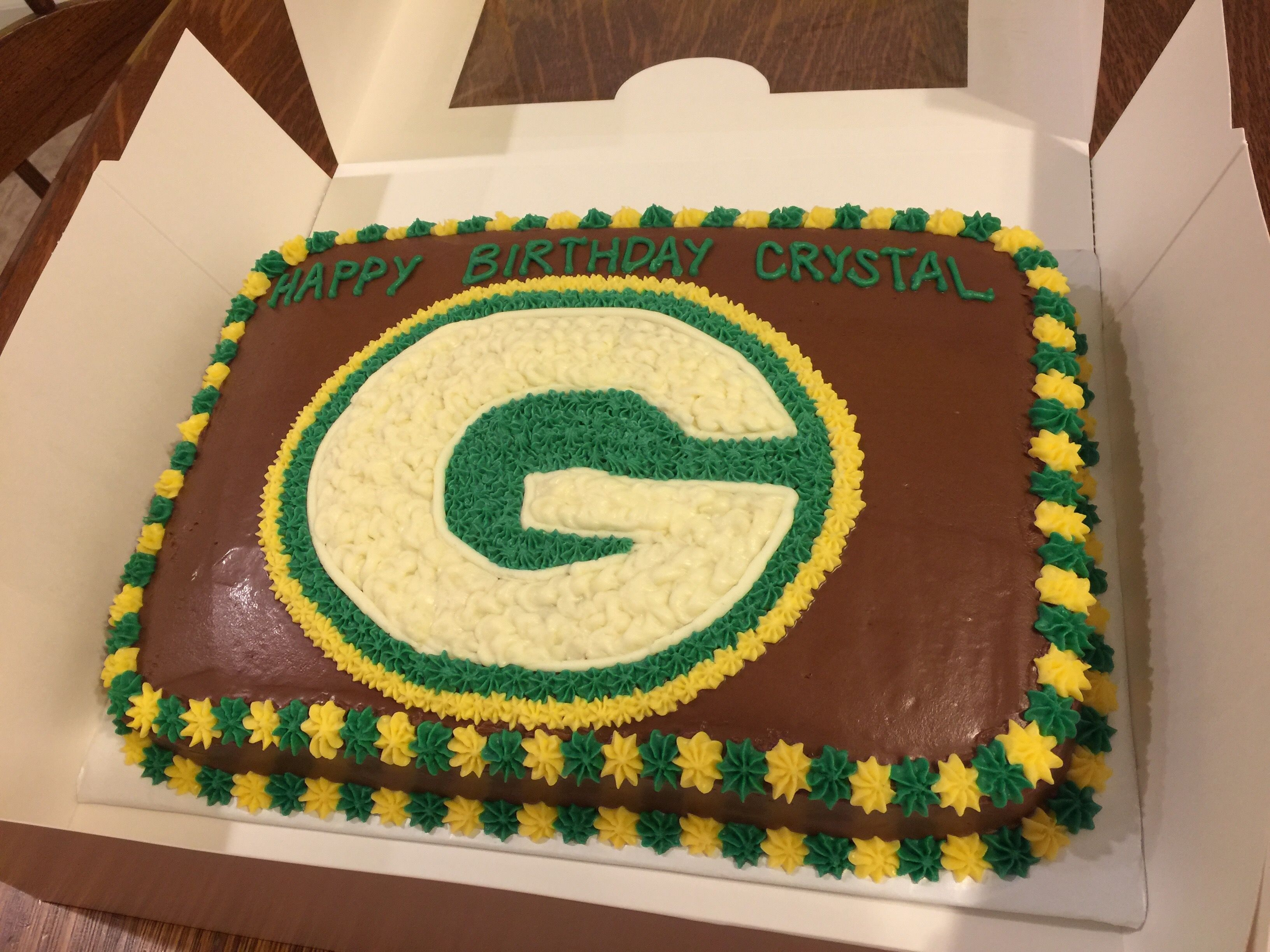 This Green Bay Birthday Cake Is For The Avid Packers