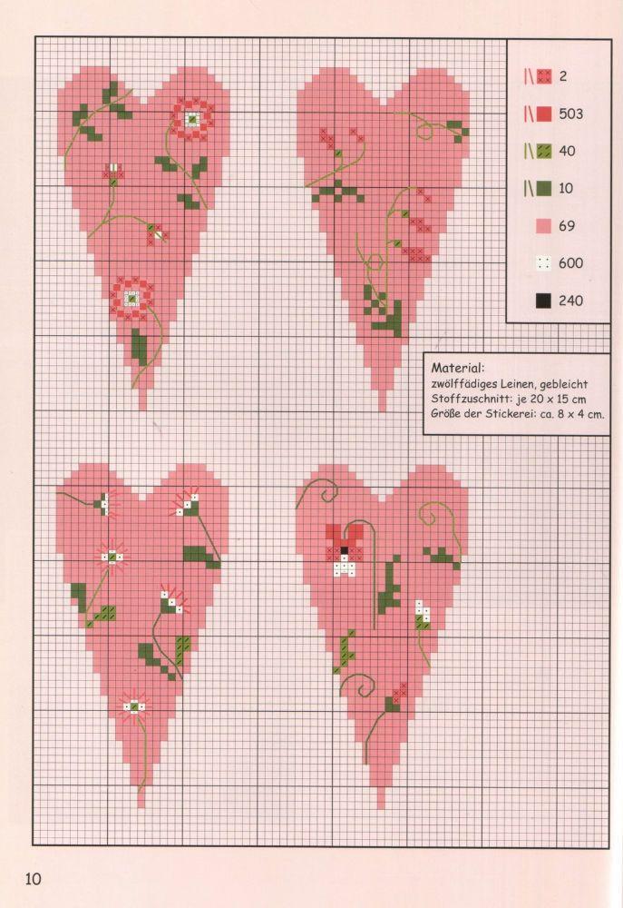 Points de croix *♥* Cross stitch hearts