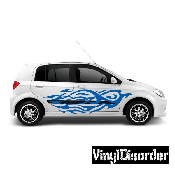 Tribal Flames Wall Decal - Vinyl Decal - Car Decal - DC 044